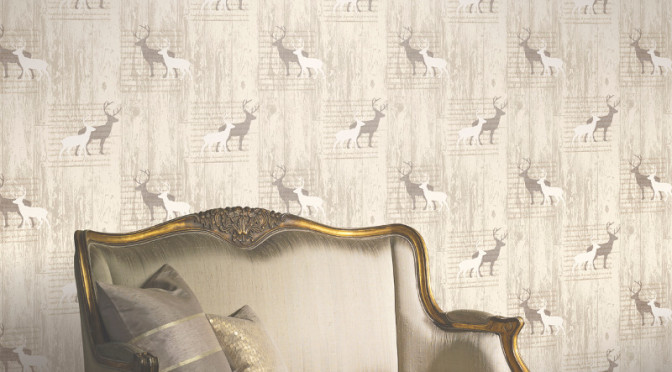Arthouse Stag Wallpaper – Cream