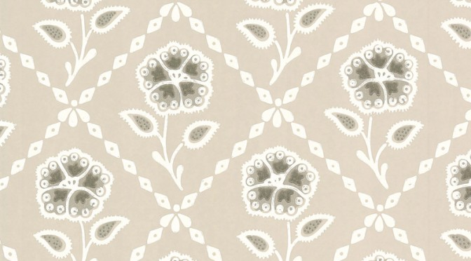Little Greene Whitehall Wallpaper In Pebble
