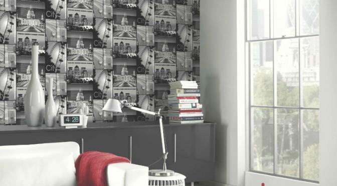 arthouse glitter london wallpaper in black