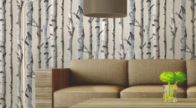 Fine Decor Distinctive Birch Tree Wallpaper