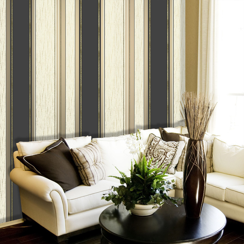 striped living room wallpaper vymura synergy glitter stripe wallpaper 13423
