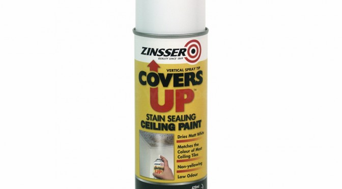 Zinsser Covers Up Stain Blocking Ceiling Paint Aerosol