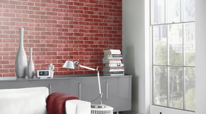 Arthouse Opera Red Brick Wallpaper