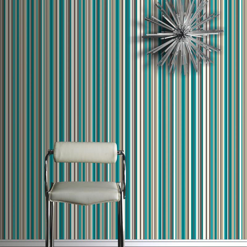 Bedroom Wallpaper Stripes