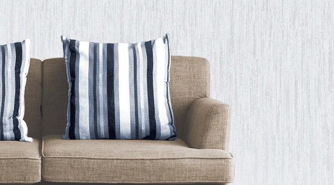 Vymura Panache Plain Glitter Wallpaper in White and Silver