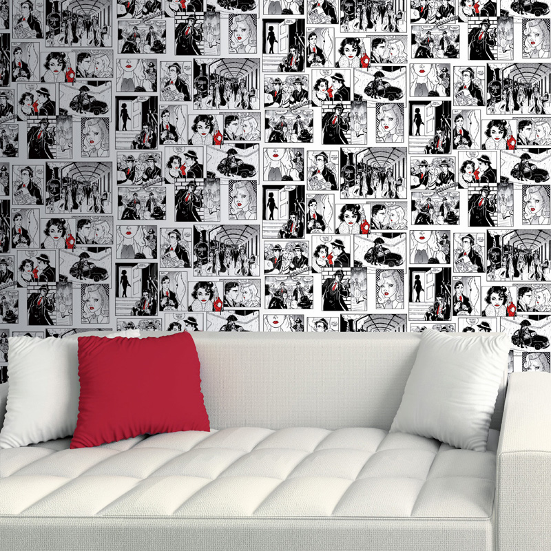 Galerie Retro Comic Strip Wallpaper