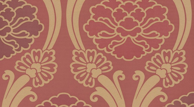 Little Greene Oriental Wallpaper – Peony in Cherry