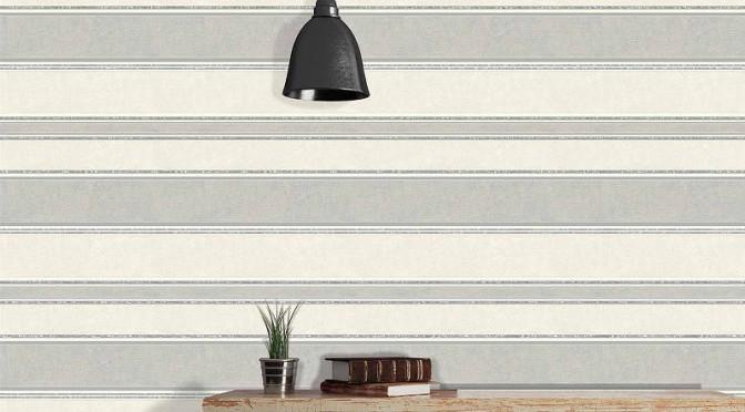 Coloroll Feathers Mallory Stripe Wallpaper – Dappled Grey