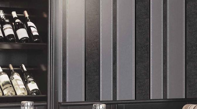 Coloroll Feathers Mallory Stripe Wallpaper – Midnight