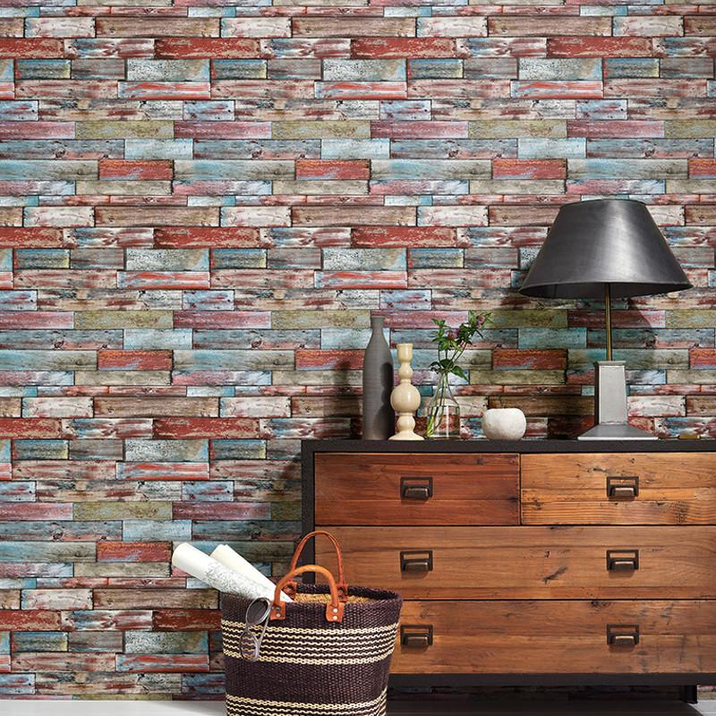 Authentic Wallpaper: Erismann Authentic Wood Panel Wallpaper