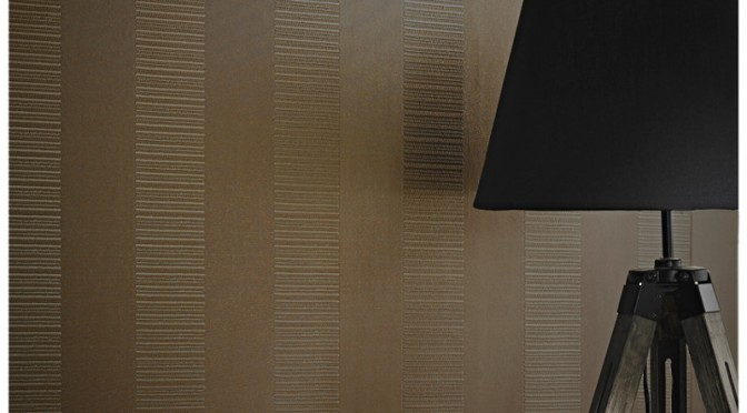 Arthouse Ravello Stripe Wallpaper – Chocolate