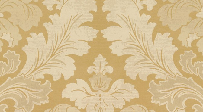 Little Greene Bonaparte Wallpaper – Pure Gold