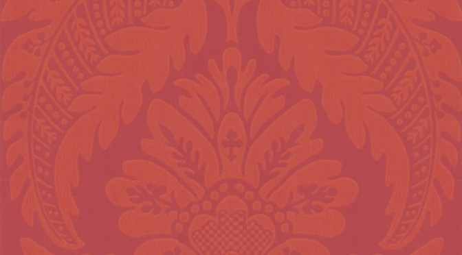 Little Greene Wilton Wallpaper – Library Red
