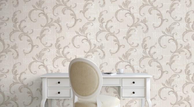 Muriva Alessandra Scroll Wallpaper – Bronze