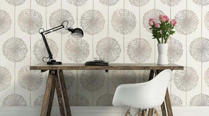 Muriva Dandelion Floral Wallpaper – Beige