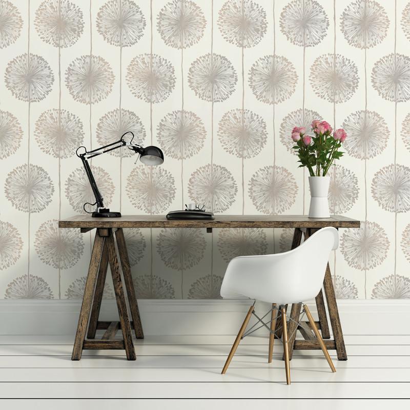 Kitchen Wallpaper Green: Muriva Dandelion Floral Wallpaper