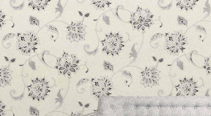 Vymura Vintique Trail Glitter Wallpaper – Grey & White