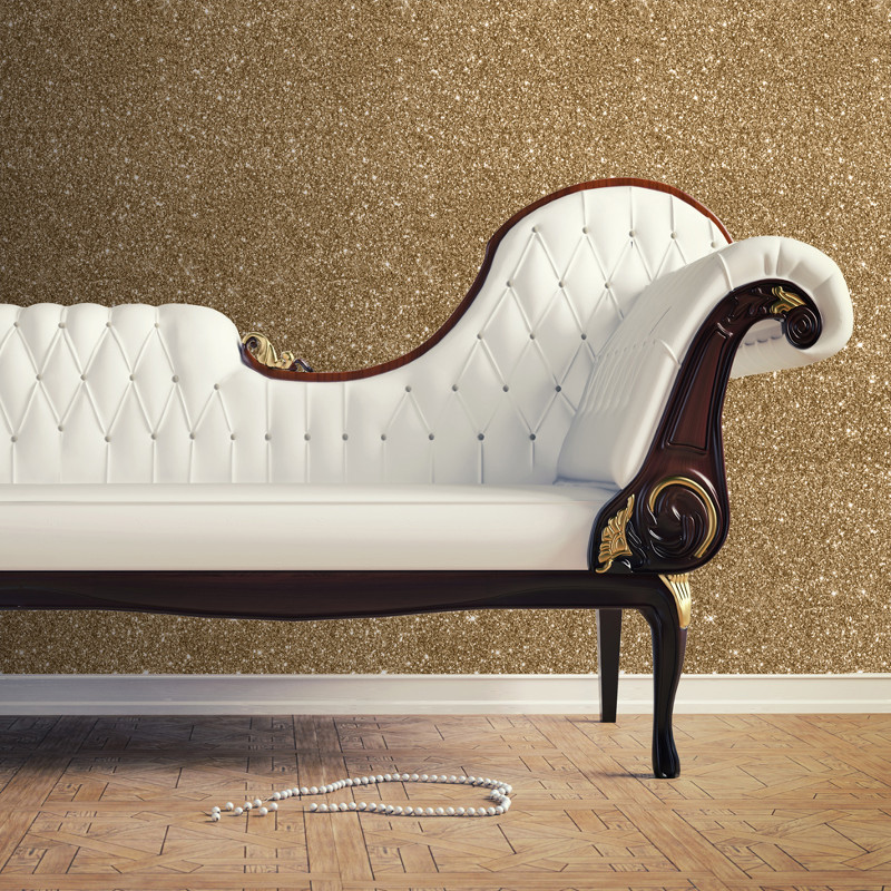 muriva sparkle plain glitter wallpaper gold. Black Bedroom Furniture Sets. Home Design Ideas