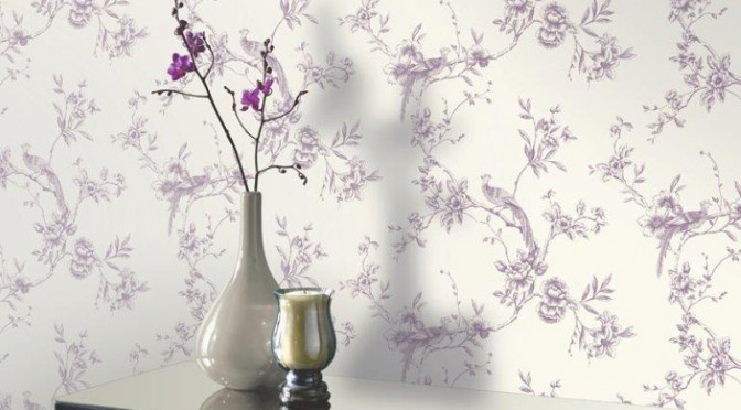 Arthouse Chinoise Wallpaper – Plum