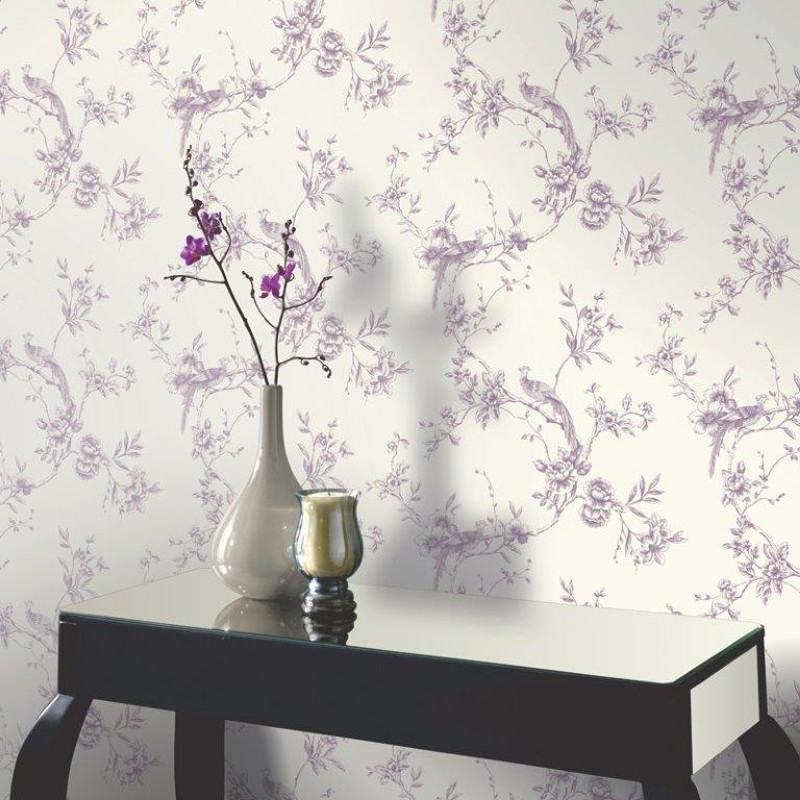 Purple Wallpaper · Arthouse Chinoise Wallpaper U2013 Plum Part 37