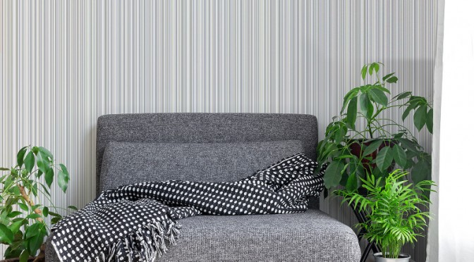 Coloroll Martez Stripe Wallpaper – Cream and Grey