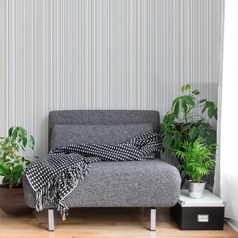 Coloroll Martez Stripe Wallpaper Cream And Grey