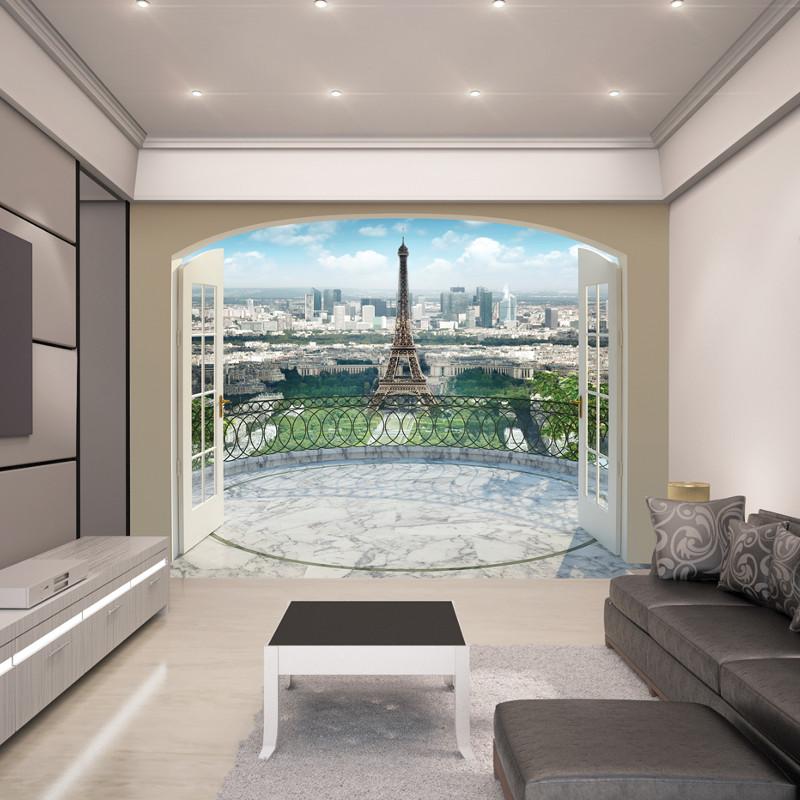 Walltastic eiffel tower in paris wallpaper mural for Eiffel tower wallpaper mural