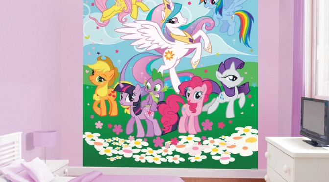 Walltastic My Little Pony Friendship Is Magic Wallpaper Mural