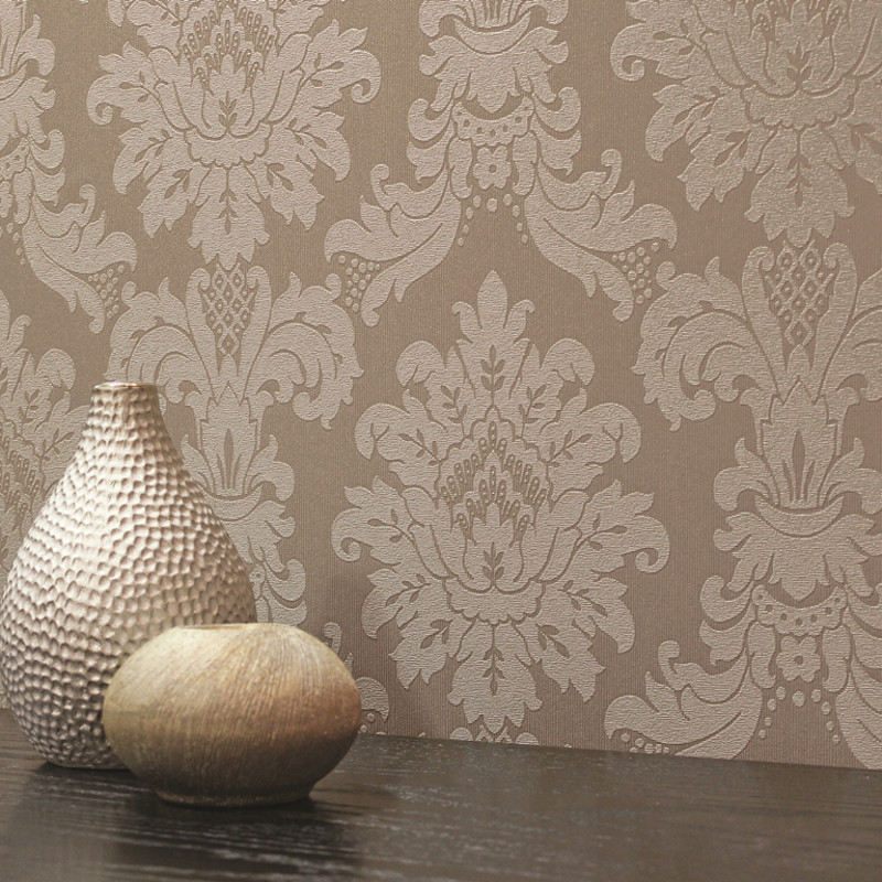Arthouse Messina Damask Wallpaper Mocha