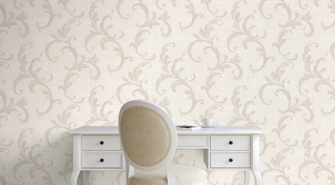 Muriva Alessandra Scroll Wallpaper – Cream