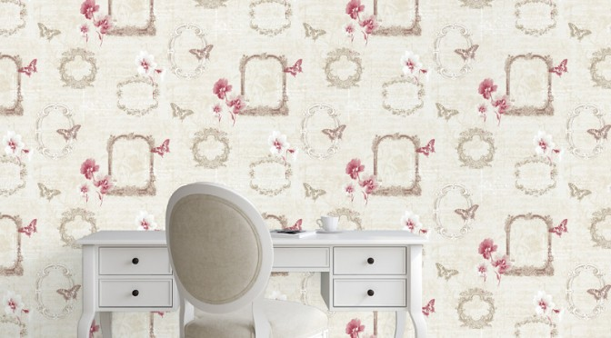 Muriva Valentina Wallpaper in Red