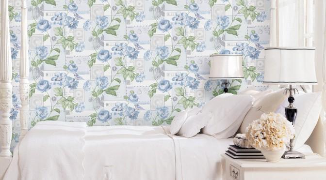 Galerie Flower and Birds Wallpaper – Blue