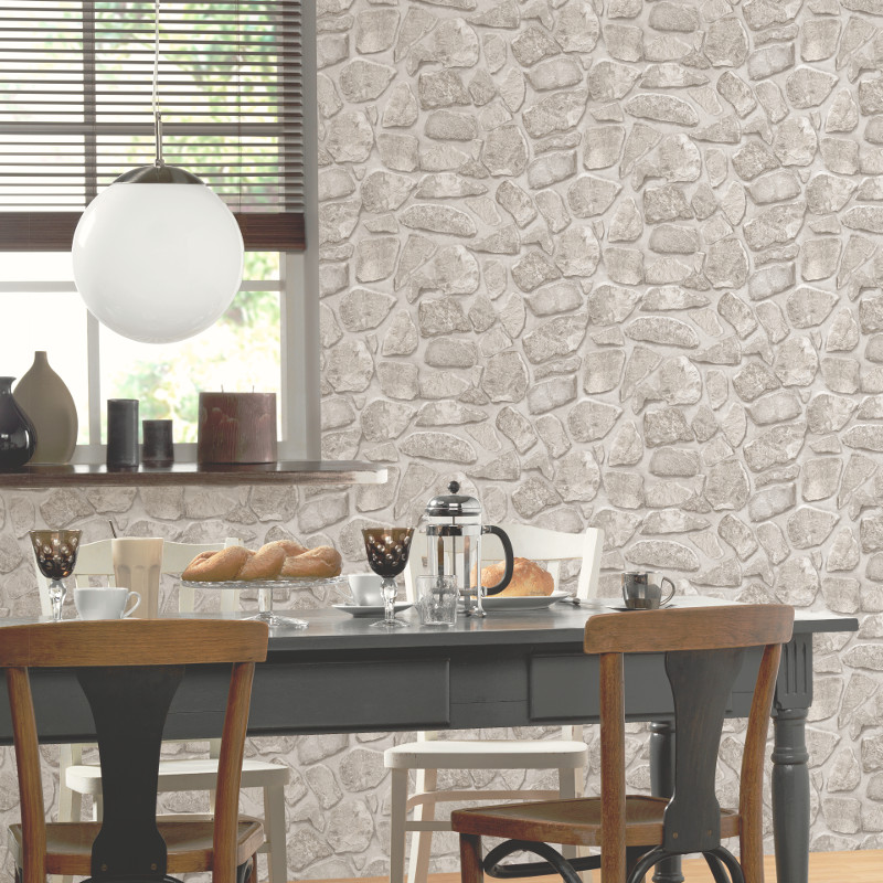 P s international stone effect wallpaper cream for International decor uk