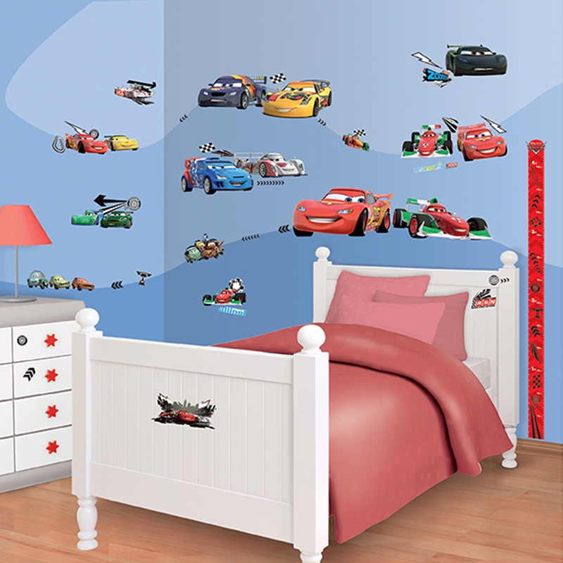 walltastic disney cars room decor kit. Black Bedroom Furniture Sets. Home Design Ideas