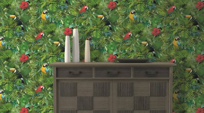 Muriva Tropical Jungle Wallpaper – Multi-Coloured