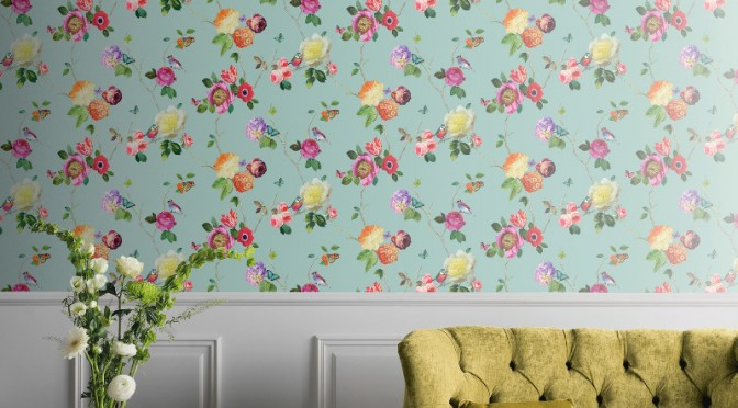 Arthouse Charmed Bird Wallpaper in Teal