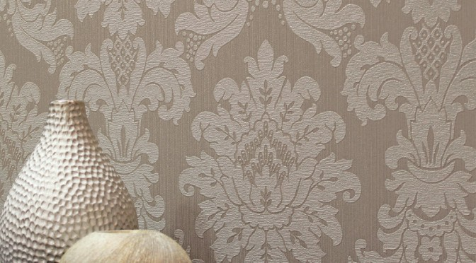 Arthouse Messina Damask Wallpaper – Taupe
