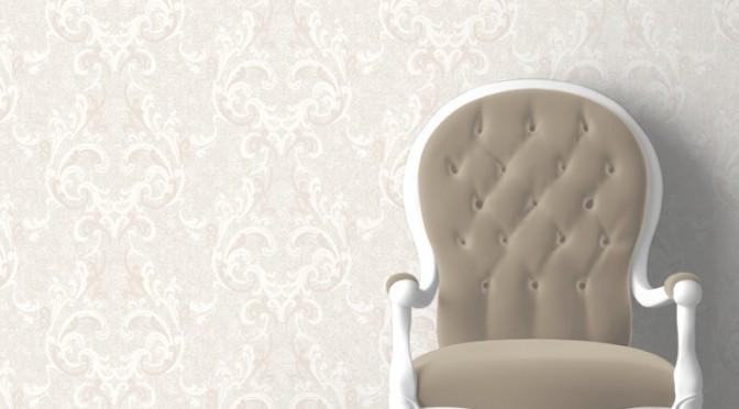 Muriva Juliette Damask Wallpaper – Cream