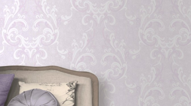 Muriva Juliette Damask Wallpaper – Lilac
