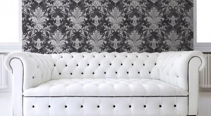 Muriva Victoria Damask Wallpaper – Black and Silver