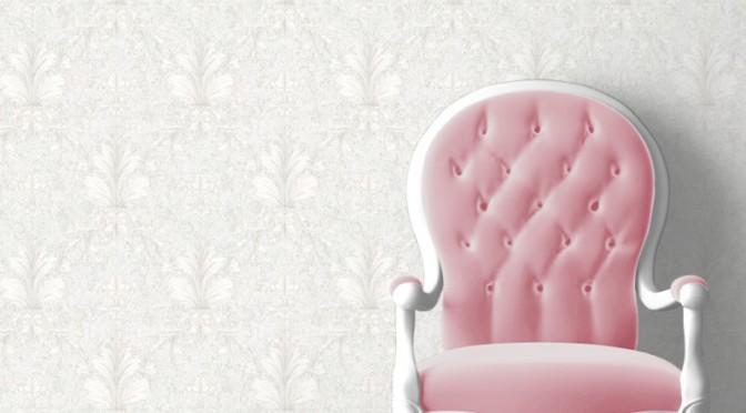 Muriva Victoria Damask Wallpaper – Soft Grey