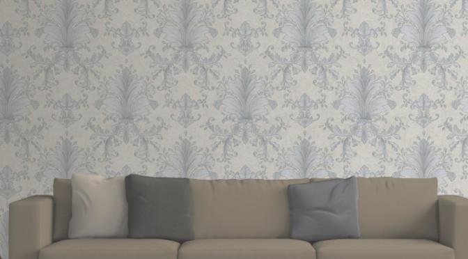 Muriva Victoria Damask Wallpaper – Taupe
