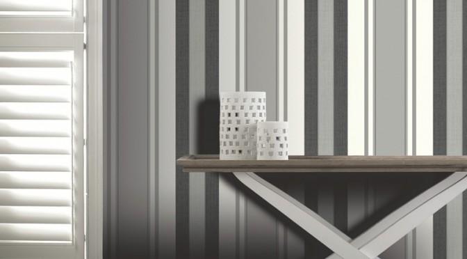 Arthouse Dante Stripe Wallpaper in Black