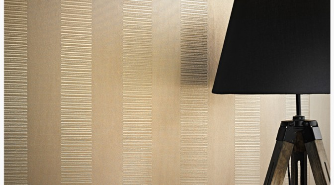 Arthouse Ravello Stripe Wallpaper – Gold