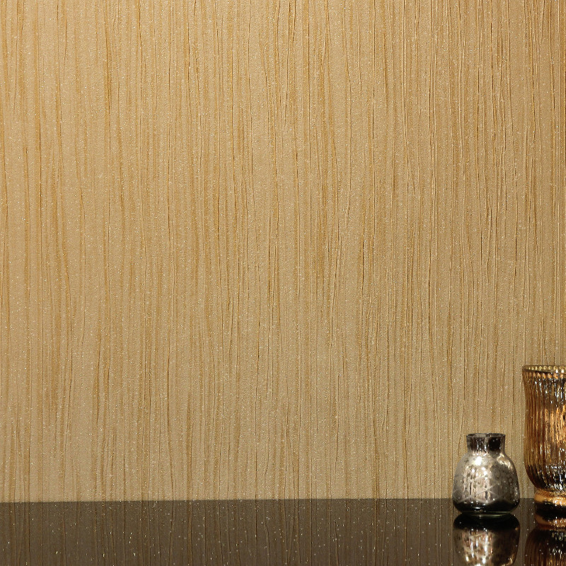 Arthouse Vicenza Plain Wallpaper in Gold