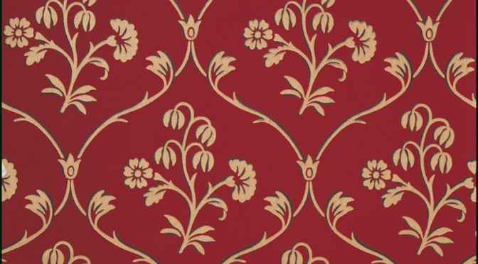 Little Greene Cranford Wallpaper – Cherry Gold