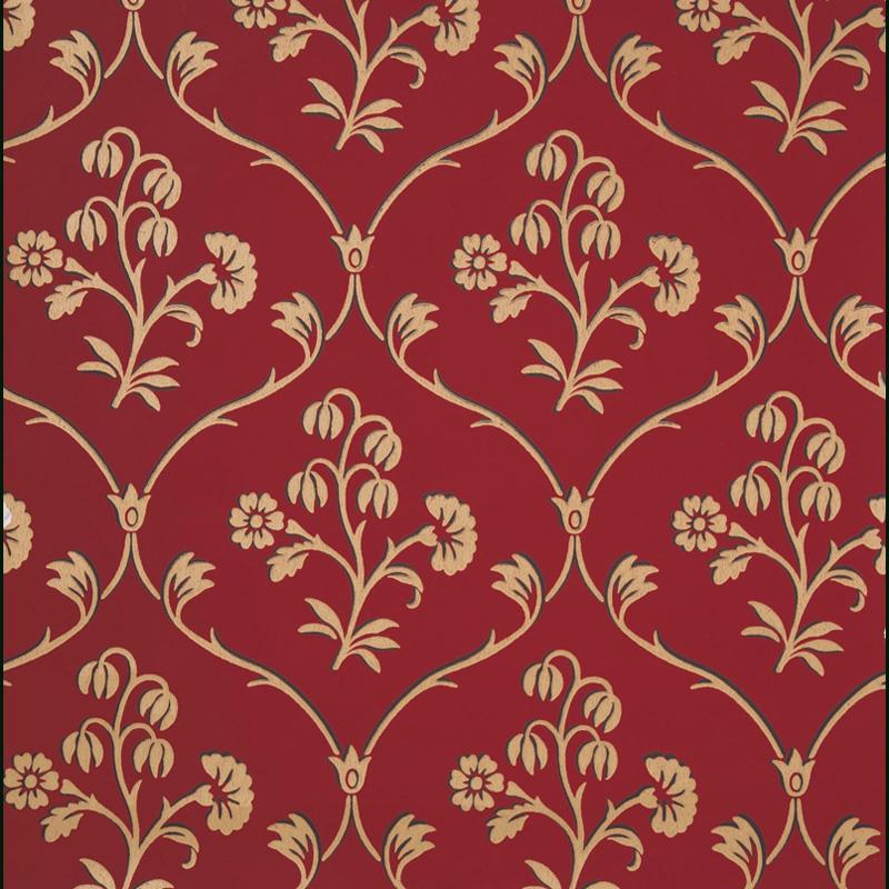 Little Greene Cranford Wallpaper Cherry Gold