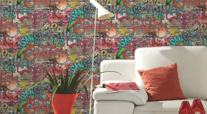 P&S International Graffiti Wallpaper – Multi-Coloured