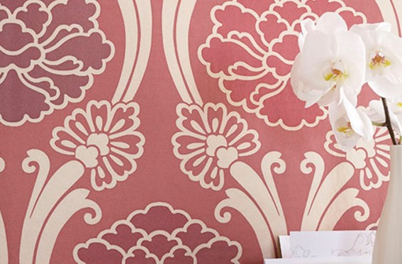 Little Greene Peony Oriental Wallpaper – Cherry