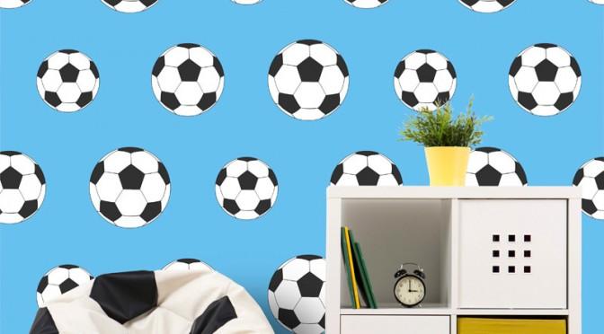 Goal Blue Football Wallpaper: Belgravia Decor Goal Football Wallpaper